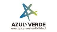 logotipo de Azul y Verde
