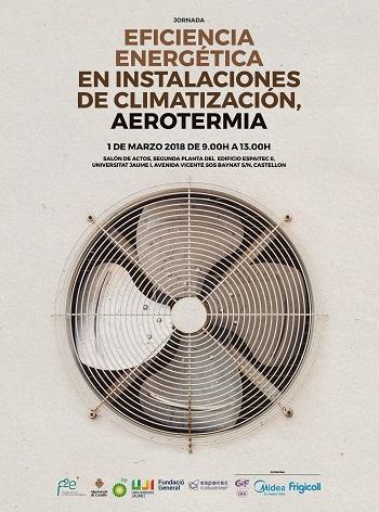 Cartel de la Jornada de Eficiencia Energ?tica y Aerotermia de F2e