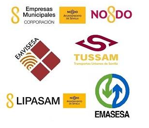 Logotipos de Empresas Municipales de Sevilla