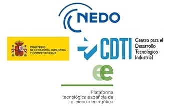 Logos de NEDO, CDTI y PTE-ee