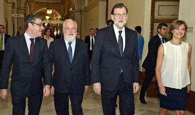 Alvaro Nadal, Miguel ?ngel Arias Ca?ete, Mariano Rajoy e Isabel Tejerina